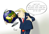 Cartoon: Entfernungen (small) by Paolo Calleri tagged usa,nordkorea,konflikt,raketentests,drohungen,flugzeugtraeger,praesident,donald,trump,armada,uss,carl,vinson,pentagon,militaer,saebelrasseln,drohkulisse,karikatur,cartoon,paolo,calleri