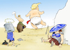 Cartoon: Europatortour (small) by Paolo Calleri tagged us,eu,europa,tour,bruessel,london,helsinki,nato,russland,treffen,gipfel,putin,donald,trump,kritik,verbuendete,allianz,karikatur,cartoon,paolo,calleri