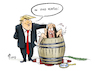 Cartoon: Vineboarding (small) by Paolo Calleri tagged usa,praesident,donald,trump,luegen,wahrheit,falschaussagen,washington,wahlkampf,presse,medien,fake,news,beschuldigungen,kritik,charlottesville,rechte,rechtsextreme,nazis,neonazis,rede,relativierung,gewalt,veritas,goettin,karikatur,cartoon,paolo,calleri