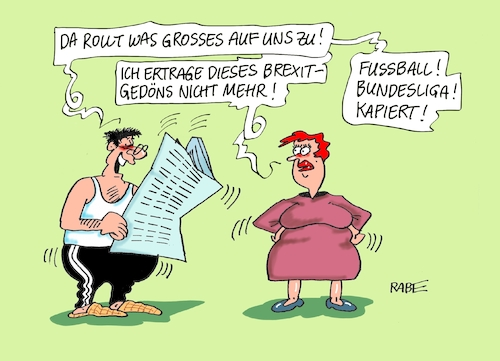 Cartoon: Bundesliga rollt (medium) by RABE tagged brexit,eu,insel,may,britten,austritt,rabe,ralf,böhme,cartoon,karikatur,pressezeichnung,farbcartoon,tagescartoon,parlament,abstimmung,deal,bundesliga,fußball,tabelle,bayern,münchen,dortmund,hoeneß,torwart,schiedsrichter,tabellenfürher,brexit,eu,insel,may,britten,austritt,rabe,ralf,böhme,cartoon,karikatur,pressezeichnung,farbcartoon,tagescartoon,parlament,abstimmung,deal,bundesliga,fußball,tabelle,bayern,münchen,dortmund,hoeneß,torwart,schiedsrichter,tabellenfürher