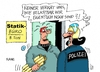 Cartoon: Schmerzgrenze (small) by RABE tagged schmerzgrenze,grenze,transitzone,polizei,polizeieinsatz,flüchtlinge,flüchtlingslager,dienst,flüchtlingskrise,belastbarkeit,rabe,ralf,böhme,cartoon,karikatur,pressezeichnung,farbcartoon,tagescartoon,architekt,statik,statiker,beton,last
