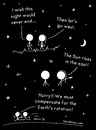 Cartoon: Summer night (small) by heyokyay tagged night,summer,stars,sun,universe,sunrise,romance,love,heyokyay