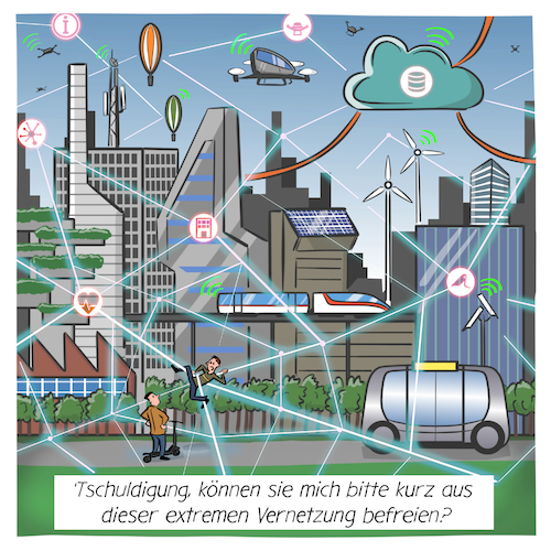 Cartoon: Smart City (medium) by CloudScience tagged smart,city,iot,internet,der,dinge,vernetzung,sensoren,ki,intelligenz,daten,cloud,big,data,digitalisierung,digital,zukunft,stadt,netzwerk,stockfoto,clipart,it,technik,tech,technologie,disruption,connection,verbindungen,knoten,kanten,taxidrohne,drohne,drohnen,selbstfahrendes,auto,autonom,escooter,5g,cartoon,karikatur,illustration,humor,verwaltung,leben,gesellschaft,smart,city,iot,internet,der,dinge,vernetzung,sensoren,ki,intelligenz,daten,cloud,big,data,digitalisierung,digital,zukunft,stadt,netzwerk,stockfoto,clipart,it,technik,tech,technologie,disruption,connection,verbindungen,knoten,kanten,taxidrohne,drohne,drohnen,selbstfahrendes,auto,autonom,escooter,5g,cartoon,karikatur,illustration,humor,verwaltung,leben,gesellschaft