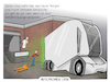 Cartoon: Autonomer LKW (small) by CloudScience tagged autonom,autonomer,lkw,spedition,logistik,lieferung,mobilitaet,selbstfahrend,elektro,elektroantrieb,auto,lastkraftwagen,anlieferung,gefahrenzulage,tech,technologie,it,technik,business,ladezone,daten,digitalisierung,digital,wirtschaft,strasse,verkehr,mobil,zukunft,einride,trend,future,innovation,disruption,schenker,db,cartoon,tpod,illustration