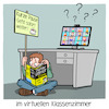 Cartoon: im virtuelle Klassenzimmer (small) by CloudScience tagged schule,lehrer,digitalisierung,bildung,klassenzimmer,fernunterricht,homeschooling,digitaler,unterricht,für,dummies,lernen,twitterlehrerzimmer,internet,corona,homeoffice,remote,schüler,videokonferenz,digital,tech,technik,technologie,it,portal