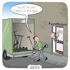 Cartoon: Juicer (small) by CloudScience tagged juicer,eroller,escooter,aufladen,einsammeln,shareconomy,sharing,arbeit,beruf,zukunft,fundbuero,verkehr,mobilitaet,mobilty,logistik,berufsbild,unterbezahlt,energie,energiewende,digitalisierung,digital,technik,tech,technologie,scooter,verkehrswende,disruption,it,minijob,job