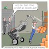 Cartoon: Lagerroboter von Boston Dynamics (small) by CloudScience tagged lagerroboter,lager,roboter,automatisierung,arbeit,logistik,mitarbeiter,kommissionierung,boston,dynamics,handle,autonom,ki,intelligent,bedrohung,zukunft,wirtschaft,produktion,it,technologie,tech,technik,digital,digitalisierung,ai,arbeitslosigkeit,innovation,disruption,wandel,transformation,mensch,entwicklung,ingenieur