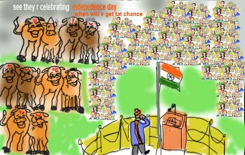 Cartoon: Independence day (medium) by anupama tagged independence,day