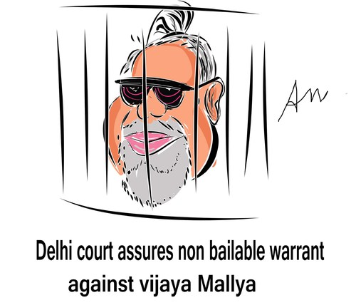 Cartoon: vijaya Mallya  jail (medium) by anupama tagged non,bailable