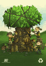 Cartoon: Recycle Tree (small) by ketsuotategami tagged recycle,tree,kids