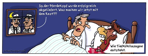 Cartoon: Schoolpeppers 286 (medium) by Schoolpeppers tagged lebensmittel,skandal,pferdefleisch