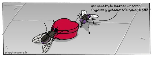 Cartoon: Schoolpeppers 64 (medium) by Schoolpeppers tagged beziehung,fliege,liebe,tiere