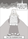 Cartoon: The Ten Suggestions (small) by fonimak tagged moses,ten,commandments,sinai,bible,biblical,tablets,cartoon,digital,photoshop,wacom