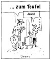 Cartoon: Zum Teufel ... (small) by joxol tagged kirche,himmel,hölle,aufzug,lift,liftboy,hotel,tourist
