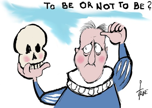 Cartoon: Cameron (medium) by tiede tagged hamlet,eu,brexit,cameron,david,tiede,cartoon,karikatur,david,cameron,brexit,eu,hamlet
