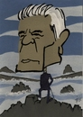Cartoon: Gauck - Blick in die Zukunft (small) by tiede tagged gauck,joachim,bundespräsident,caspar,david,friedrich,tiede,tiedemann
