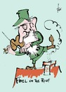 Cartoon: Fiddler on the roof (small) by tiede tagged fiddler,on,the,roof,fidel,castro,anatevka,musical,tiede,tiedemann,cartoon,karikatur
