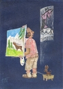 Cartoon: Picasso - was soll so was? (small) by tiede tagged picasso hirsch landschaft maler kulturkampf tiedemann
