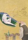 Cartoon: Stop drinking. Michelangelo! (small) by tiede tagged michelangelo erschaffung adam alkohol sixtinische kapelle