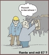 Cartoon: Rente - wozu ? (small) by michaskarikaturen tagged rentenalter