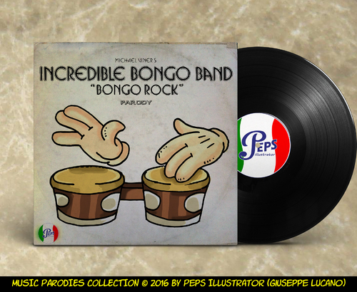 Cartoon: Incredible Bongo Band Parody 1 (medium) by Peps tagged incredible,bongo,band,funk,apache,music,rock