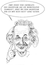 Cartoon: Albert Einstein (small) by Thomas Vetter tagged albert,einstein