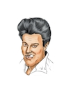Cartoon: Elvis Presley (small) by Thomas Vetter tagged elvis,presley