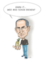 Cartoon: Steve Jobs (small) by Thomas Vetter tagged steve,jobs