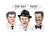 Cartoon: The Rat Pack (small) by Thomas Vetter tagged the,rat,pack
