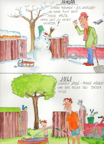 Cartoon: Winter (medium) by Denno tagged schneefrust