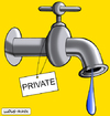Cartoon: Private water (small) by Ludus tagged water