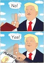Cartoon: Amtseid Trump (small) by Oli Knaus tagged donald,trump,präsident,usa,us,obama,barack,amtseid,amtseinführung