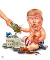 Cartoon: Inauguration day (small) by mparra tagged trump,president,baby,inaugurationday