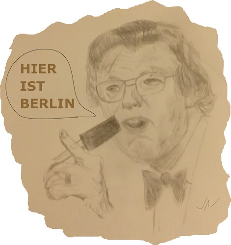 Cartoon: Dieter Thomas Heck (medium) by Jochen N tagged moderator,schnellsprecher,hitparade,schlager,hier,ist,berlin