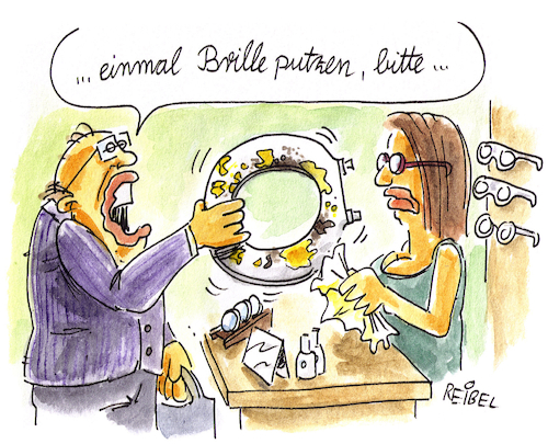 Cartoon: Brillenputzer (medium) by REIBEL tagged optiker,brille,putzen,toilette,laden,arbeitsplatz,kundenservice,optiker,brille,putzen,toilette,laden,arbeitsplatz,kundenservice