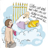 Cartoon: himmelspforte (small) by REIBEL tagged himmel,pforte,tablet,petrus,sünden,check,posting,tod,auswahl,paradies,hölle