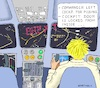 Cartoon: Boris in the Role of A. Lubitz (small) by Barthold tagged boris,johnson,prime,minister,britain,hard,brexit,disregard,parliament,democratic,rules,andreas,lubitz,german,pilot,suicide,french,alps,occupied,airliner,germanwings,2015,cockpit,nocturnal,city,bright,lettering,yoke,instruments,airplane,crash,prorogation
