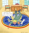 Cartoon: Calmness Indicates Superiority (small) by Barthold tagged donald,trump,president,ukraine,affair,biden,zelensky,whistleblower,cia,threat,treatening,revilement,leak,white,house,staff,traitor,treason,oval,office,carpet,furor