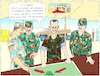 Cartoon: Planning the Capture of Idlib (small) by Barthold tagged bashar,al,assad,dictator,despot,syria,officers,briefing,planning,capture,idlib,rgion,district,air,strikes,hospitals,ruthlessness,disregard,civil,victims,damages,tent,under,canvas,map,hayat,tahrir,sham
