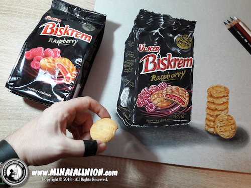 Cartoon: Drawing Biskrem - 3D Art (medium) by Art by Mihai Alin Ion tagged illustration,painting,drawing,biskrem,mihaialinion,3dart,biscuits,productdesign
