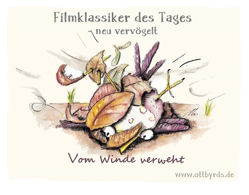 Cartoon: Vom Winde verweht (medium) by OTTbyrds tagged sabine,orkan,unwetterwarnug,eberhard,strurm,wetterwarnungen,unwetter,ottbyrds,vomwindeverweht,filmklassiker,gonewiththewind