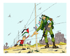 Cartoon: Gaza of Israel (small) by vasilis dagres tagged gaza,israel,war,peace