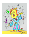 Cartoon: GUITAR OPERA DIVA (small) by vasilis dagres tagged music,culture