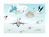 Cartoon: immigration -refugges -war (small) by vasilis dagres tagged syria,war,immigration,refugges
