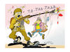 Cartoon: the soldier (small) by vasilis dagres tagged internasional