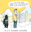 Cartoon: R.I.P. Roger Moore (small) by bSt67 tagged isis,paradies,himmel,007,bond,jungfrauen