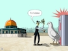 Cartoon: Al Aqsa mosque and metal detecto (small) by Ali Ghamir tagged al,aqsa,mosque,and,metal,detectors