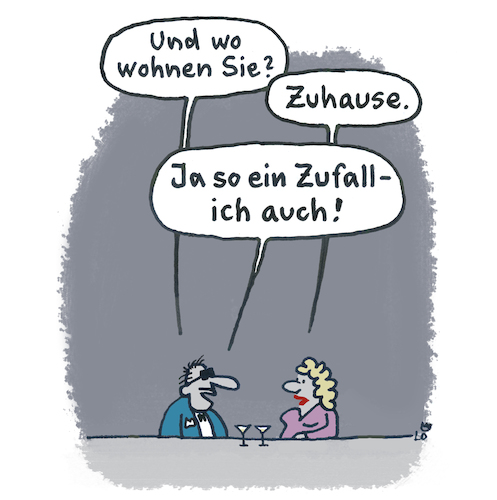 Cartoon: Zuhause (medium) by Lo Graf von Blickensdorf tagged bar,flirt,zuhause,frau,mann,tresen,single,dating,bar,flirt,zuhause,frau,mann,tresen,single,dating