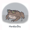 Cartoon: Computerfreak (small) by Lo Graf von Blickensdorf tagged cartoon,nerd,computer,erdkröte,kröte,bufonidae,froschlurch