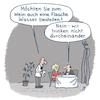 Cartoon: Im Weinlokal (small) by Lo Graf von Blickensdorf tagged wein,kellner,mann,frau,ehepaar,chillen,wasser,bar,club,lokal,restaurant,ober,cartoon,candlenight